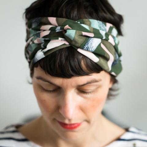 headband_façon_foulard_noué